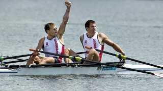 Rasmus Quist og Mads Rasmussen har netop sikret sig guldet ved Legene i London.
