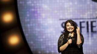 Sofie Hagen var en ud af tre upcoming comedy-talenter, da Zulu Comedy Galla blev afholdt i 2012.
