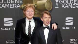 Ed Sheeran (t.v.) har arbejdet på James Blunts nye album 'The Afterlove', der udgives fredag.