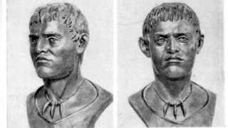 Sådan blev en mand fra yamnaya-folket blevet gengivet i en russisk skolebog fra 1930'erne.