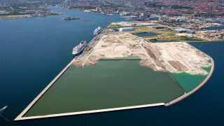 Nordhavn inddæmmer dele af havnen, og det betyder, at Københavns Kommune vokser godt en procent i areal, når alt er dæmmet ind.