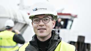 Miljø- og fødevareminister Esben Lunde Larsen (V) da han stadig var minister for fiskeriet. Samarbejdet med fiskeriordførerne i Folketinget var helt i bund, da han mistede området i august.