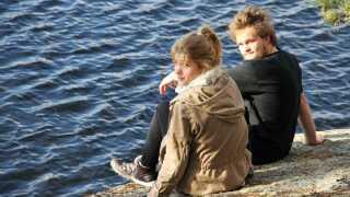 Christina Krzyrosiak Hansen på tur til Sverige med kammerater, her Bjarke Rydahl, som stillede spørgsmålstegn ved hendes drøm om at blive dyrlæge.