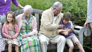 Prins Henrik nød rollen som bedstefar.