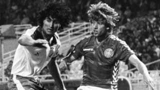 Jesper Olsen var en af de bedste driblere på det stærke landshold i 1980'erne.