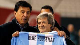 Daniel Passarella (til venstre) sammen med René Houseman, der også deltog ved VM i 1978. Billedet er taget i begyndelsen af 2018.