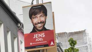 Sådan så Jens Joels valgplakat ud ved det seneste folketingsvalg i 2015.