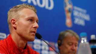 Simon Kjær har ikke været tilfreds med DBU's håndtering af forhandlingerne. Her ses han under VM i Rusland.