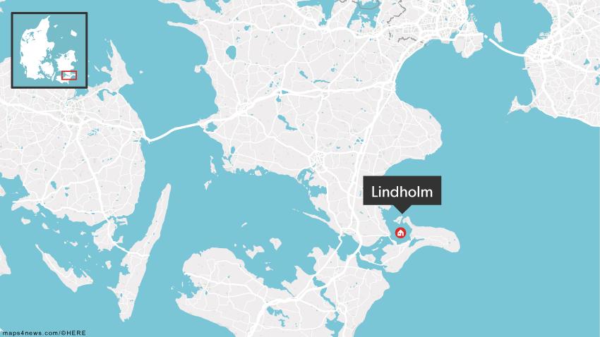 Øen Lindholm ligger mellem Møn og Sydsjælland.