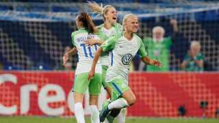 Pernille Harder bragte Wolfsburg foran i Champions League-finalen.