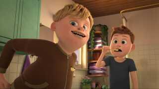 Sune (til venstre) er Askes papbror og gør alt, hvad han kan, for at gøre livet surt for Aske.