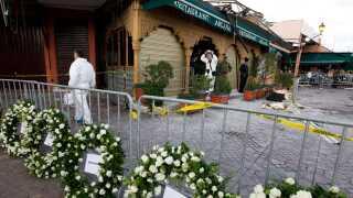 Det var på Argana cafe i Marrakesh eksplosionen fandt sted og en bomb dræbte adskillige udlændinge i 2011.