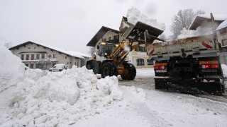 Bayern-regionen i Sydtyskland har fået store snemængder de seneste dage, og mere er på vej.
