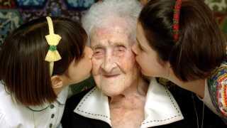 Jeanne Calment menes med sine 122 år at være det ældste menneske, der har levet. Her ses hun i 1995, to år før sin død.