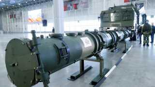 Dele af den omstridte Novator 9M729 krydsermissil blev i dag vist frem af det russiske forsvarsministerium.