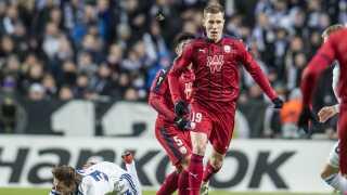 Lukas Lerager i kamp for Bordeaux mod FCK i efteråret.