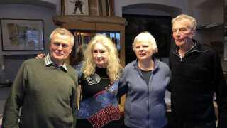 Fire tidligere slumstormere. Fra venstre: No Widding, Britta Lillesøe, Dorrit Kampmann og Jesper Sølling.