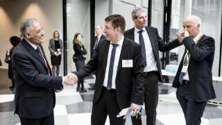 Thomas Schulz (forrest til højre) er topchef i FLSmidth & Co.