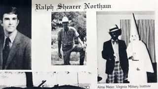 Billedet af den sortmalede student blev trykt i en årbog.