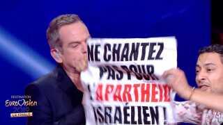 Under den franske Grand Prix-finale stormede en demonstrant på scenen med et skilt med ordlyden 'Syng ikke for israelsk apartheid'. Det samme skete i en semifinale, lige efter at sidste års israelske Eurovision-vinder, Netta, havde optrådt.