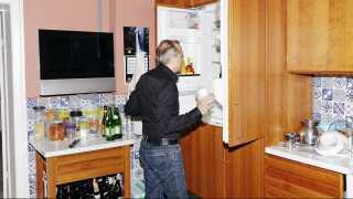 Køleskabet spiller en stor rolle i Elvios madfilosofi. Os danskere har simpelthen for få forskellige råvarer i køleskabet, forklarer han. Vi køber kun det, vi ved, vi skal bruge - og det er lige netop problemet, mener han.