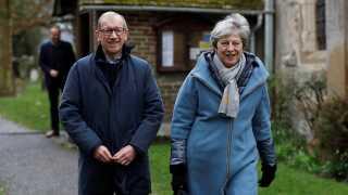 Theresa May har altid været meget privat. Også når det angik ægteskabet med Philip May. Men i flere interview har hun omtalt ham som sin klippe.