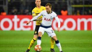 Christian Eriksen og Tottenham møder Manchester City.