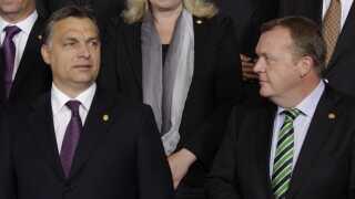 Viktor Orbán har længe skabt røre i EU. Her ses han sammen med statsminister Lars Løkke Rasmussen ved et topmøde.
