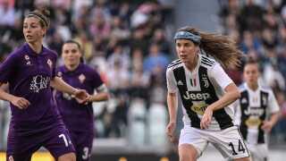 Sofie Junge blev matchvinder for Juventus søndag eftermiddag.