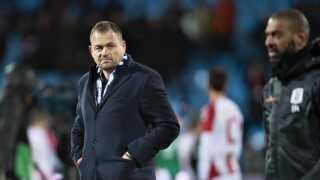 AGF's adm. direktør Jacob Nielsen efter Superligakampen mellem Aab og AGF i marts.