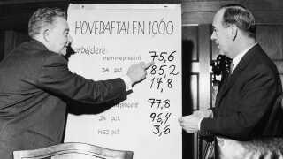 Septemberforliget mellem fagforeningerne og arbejdsgiverne fra 1899 bliver i 1960 opgraderet.
