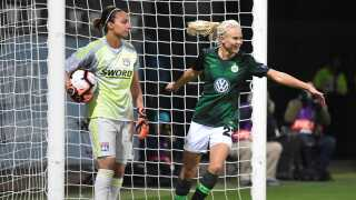 Pernille Harder kom på tavlen for Wolfsburg.