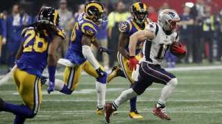Sidste år spillede New England Patriots og Los Angeles Rams i Super Bowl-finalen.