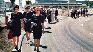 Arkivfoto. I 1999 nedlagde SAS-medarbejdere arbejdet i frygt for, at selskabet ville blive solgt.