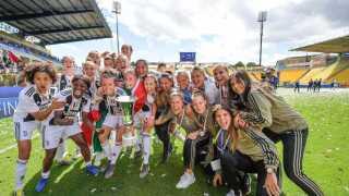 Juventus' kvinder med Sofie Junge blev italiensk pokalmester.