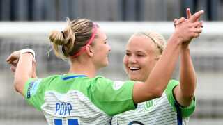 Pernille Harder sikrede sig The Double med Wolfsburg i weekenden.