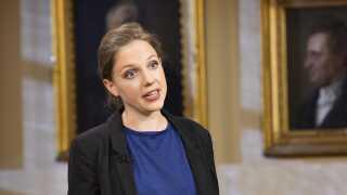 Rina Ronja Kari er spidskandidat for Folkebevægelsen mod EU.