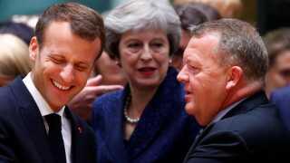 Statsminister Lars Løkke Rasmussen (V) skal i dag deltage i sit sidste EU-topmøde med blandt andet Frankrigs præsident, Emmanuel Macron, inden valget til Europa-Parlamentet.