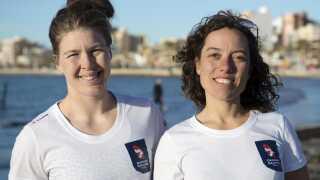 Ida Marie Baad og Marie Thusgaard præsterede lørdagens bedste serie ved EM i Weymouth.