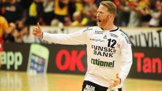 Frank Mikkelsen blev en af de afgørende spillere i opgøret med en stor 2. halvleg.