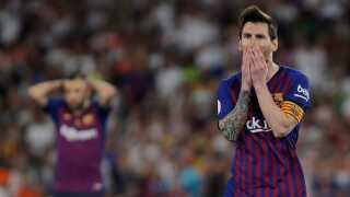 Lionel Messi kom på tavlen for Barcelona, men det var ikke nok.