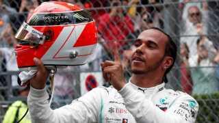 Mercedes Lewis Hamilton efter løbet.