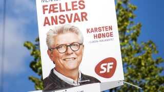 Valgplakat for Kasten Hønge fra SF. Da han stillede op til europaparlamentsvalget, lød meldingen, at han gerne ville til Bruxelles. Siden skiftede han mening.