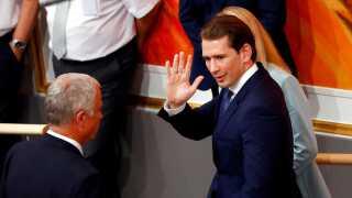 Farvel og tak. Østrigs kansler Sebastian Kurz er blevet afsat fra posten, efter den såkaldte Ibiza-skandale.
