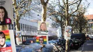 Valgplakater i København.