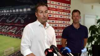 Kasper Hjulmand præsenteres som ny landstræner og Morten Wieghorst som ny ass. landstræner i DBU's hovedkvarter i Brøndby.