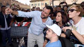 Matteo Salvini, der står i spidsen for Lega i Italien, er en populær mand på den europæiske højrefløj.