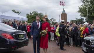 I anledning af 800-året for Dannebrogs fald fra himlen, besøgte Kronprinsparret Vordingborg.