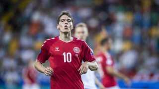 Robert Skov var farligste dansker i nederlaget til Tyskland.