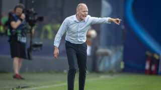 Danmarks landstræner Niels Frederiksen var en presset mand, da Østrig fik straffe, men efter sejren var han godt tilfreds med sine spillere.